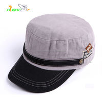 New style Plain Outdoor Hunting Flat Top Army Military Caps Korea fashion topee