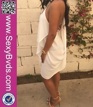 New Sexy Hot Girl Club Dress Cut-out Back White Bodycon Club Wear Dresses Women