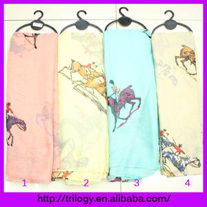 2014 Fashion Accessories Spring voile carriage print scarf