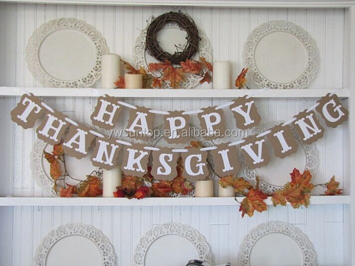 HAPPY ATHANKSGIVING Hanging Cheap Flags and Banners Decorative Thanksgiving Day