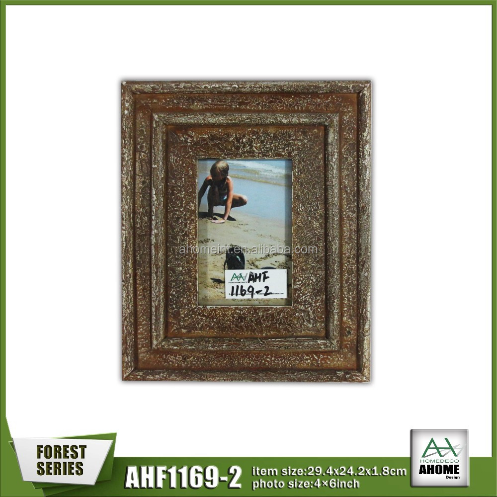 Distressed 10X15 Wooden Picture Photo Frame Multi Colour,Hanging And Stand Handmade Photo Frame