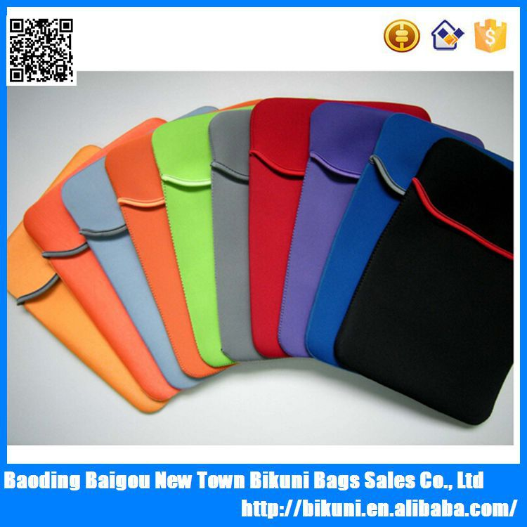 Customized all kinds of size 7-17 inch lightweight neoprene tablet laptop sleeve with your logo