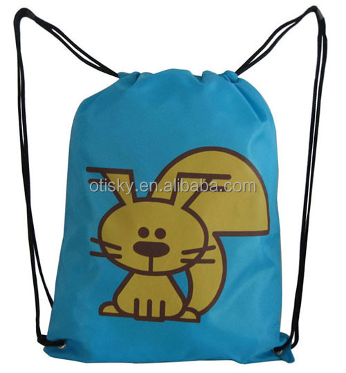 Promotion kids drawstring bag/drawstring backpack
