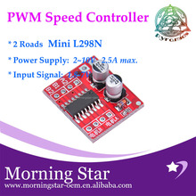 2 DC motor drive module reversing PWM speed dual H bridge stepper motor Mini victory L298N for Intelligent car, toy car, robot