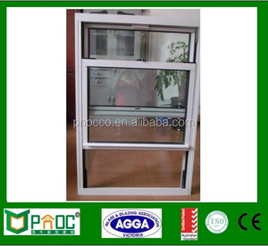 China Made Aluminium Single Hung Windows with Tempered Glass/ Aluminium Windows and Doors PNOC0019SHW