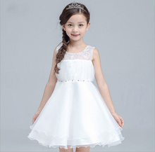pari dress for baby girl birthday dress for girl of 7 years old baby girl party children frocks designs White