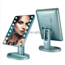 premium dressing table plastic single makeup case with light mirror