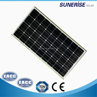 black mono solar panels mono 80watt pv panel for solar led solar street light