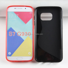 S line design tpu soft cell phone cover For Samsung Galaxy S7 G930 gel case