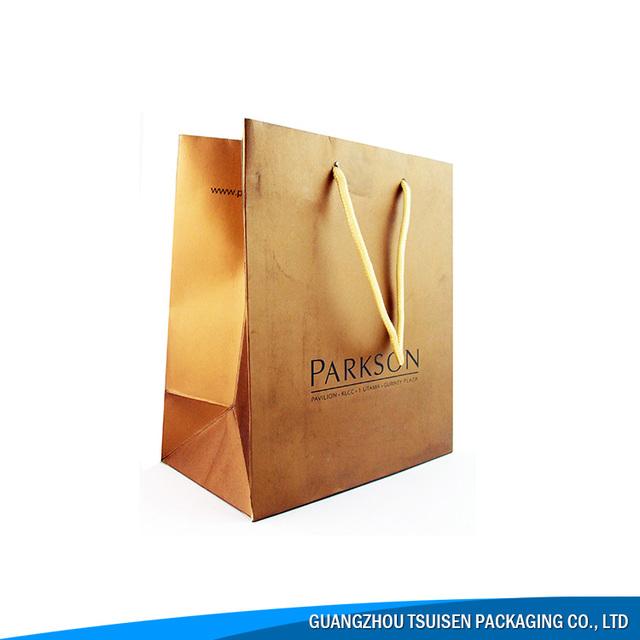 Brown Paper Bag Kraft Art Paper Bag With Company Logo Print Paper Bag Shopping / Packaging