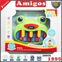 2017 hot selling electronic organ/electronic keyboard frog cute toy musical