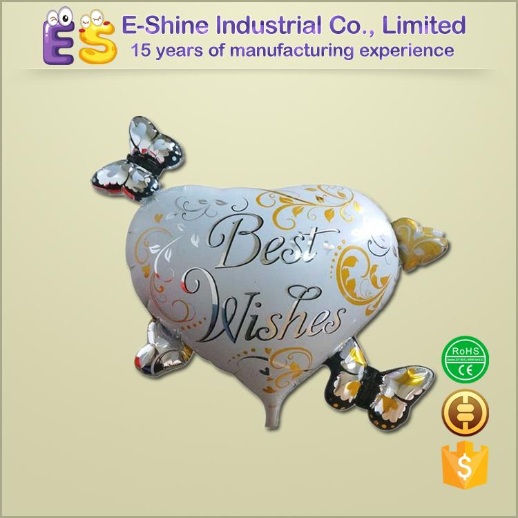 Wholesale Wedding Party Balloon Good Quality Butterfly Heart Foil Helium Balloon