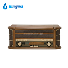 Multifunctional Antique Style Vinyl Turntable Records Player CD Cassette Recorder