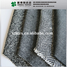 Fancy woven tweed 10% Wool 90% synthetic grey melange color fabric for workwear fabric/poly wool winter coat fabric