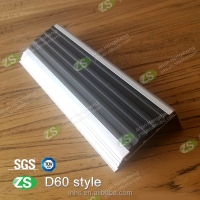 High Quality Aluminum Anti-slip Stair Nosing Trim with Black Pvc Insert
