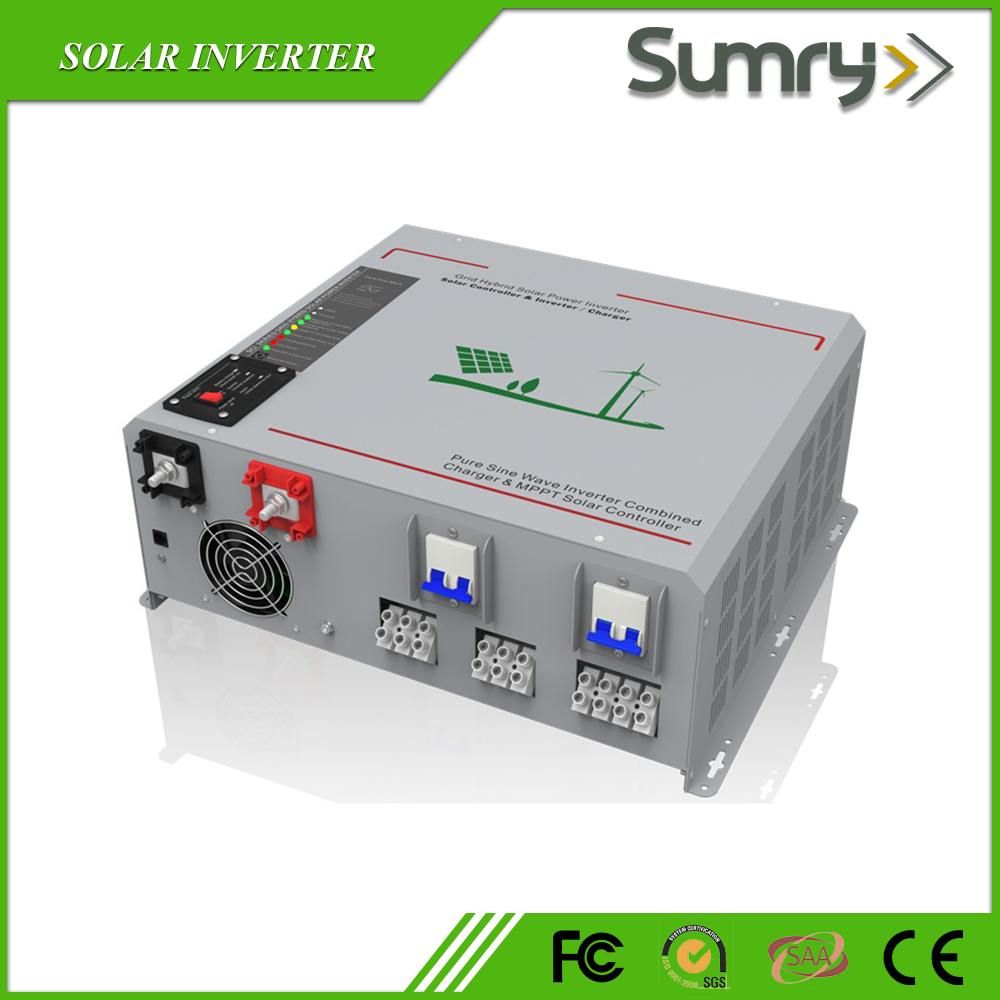 500w to 6000w Pure sine wave hybrid solar inverter with mppt charge controller