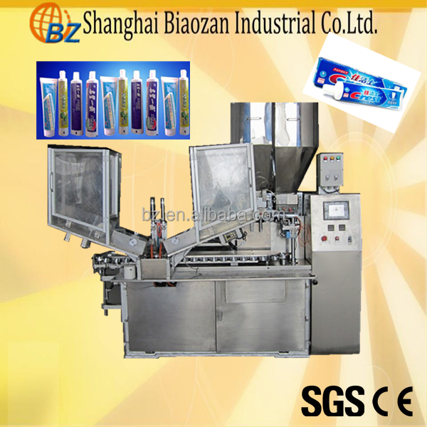 toothpaste automatic ultrasonic soft tube filling sealing machine