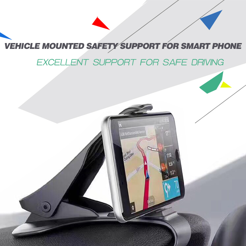 Car Mount, HUD Simulating Design Car Phone Holder/ Universal Cradle Adjustable Dashboard Phone Mount for Safe Driving
