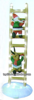 Inflatable Santa Claus and reindeer climbing ladder/air blown Santa and reindeer/Christmas decoration