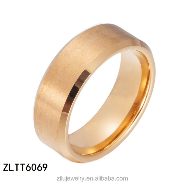 ZLTT6069 high quality black titanium wedding bands with