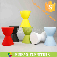 2016 Wholesale High Quality Storage Function Low Plastic Hourglass Stool