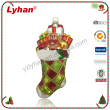 Lyhan hot product Christmas socks with gifts for Christmas Hanging Ornament