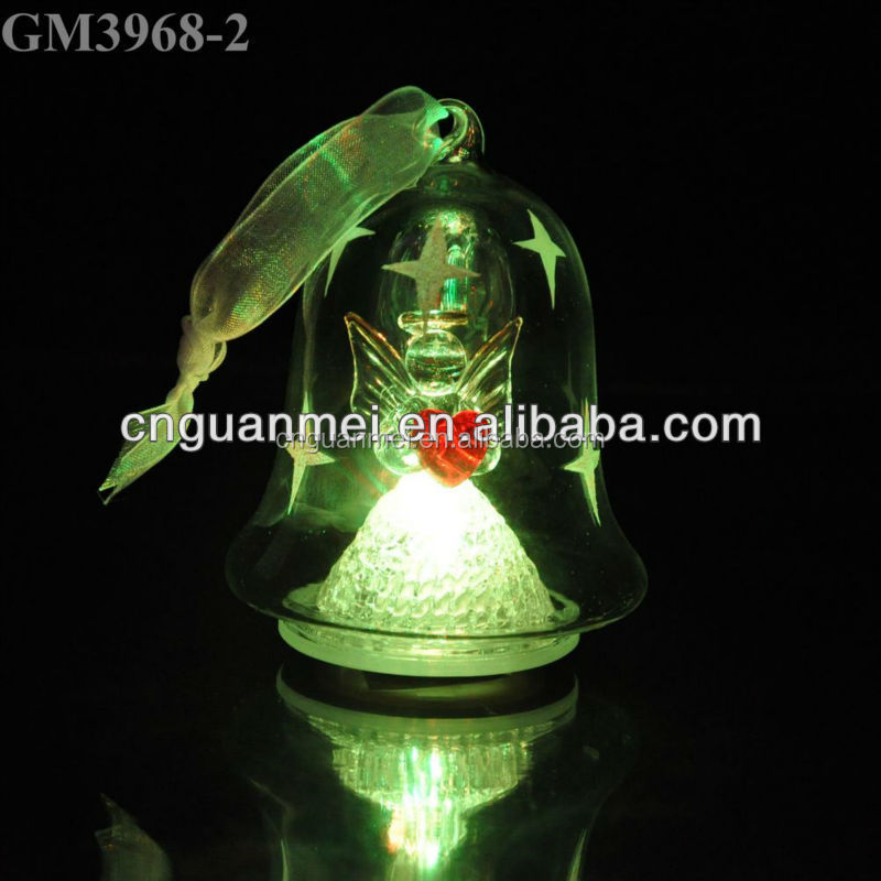 Christmas tree decoration glass christmas bell