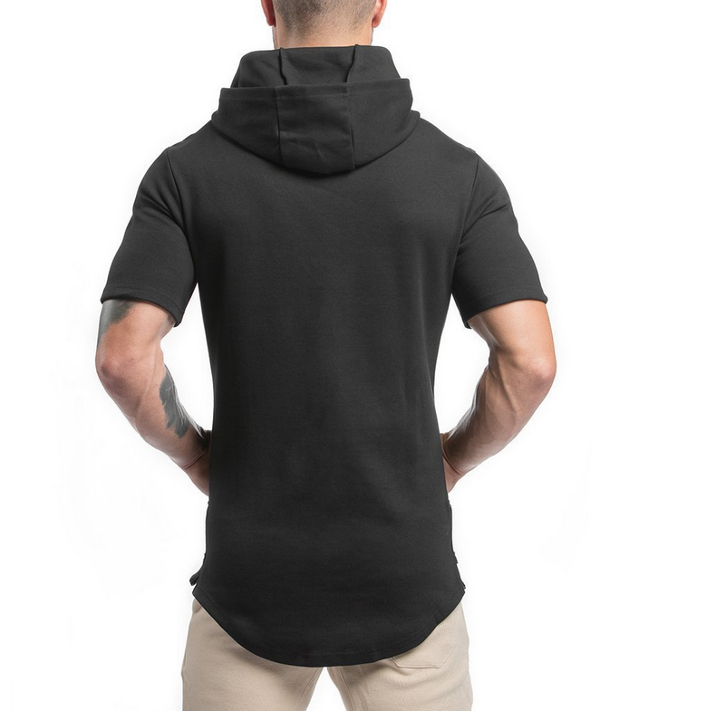 95% cotton 5% spandex  custom logo oem design mens body building running gym plain blank sports fitness hoodies
