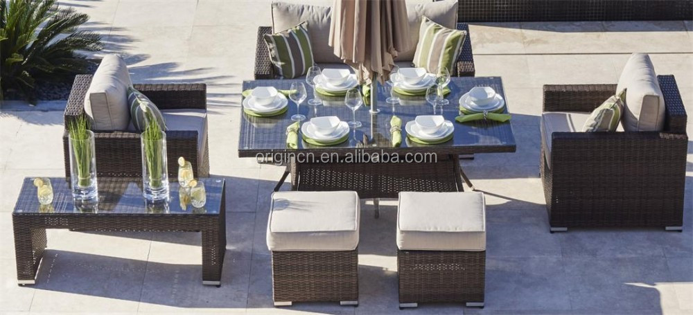 4 seater stool designed outdoor terrace leisure and recreation cane furniture rattan dining new model sofa