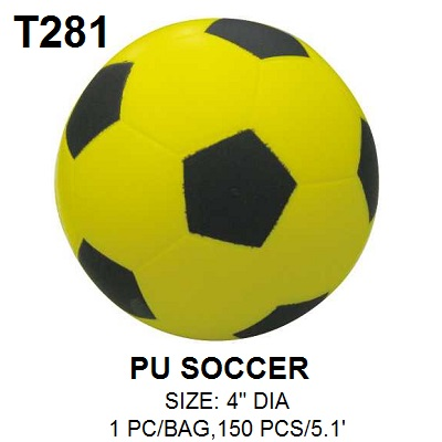 DIA 4inch PU Soft Touch Soccer Ball