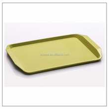 Hot sell non-slip serving rectangular glass tray PP Plate