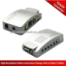 High Resolution AV to VGA Video Converter
