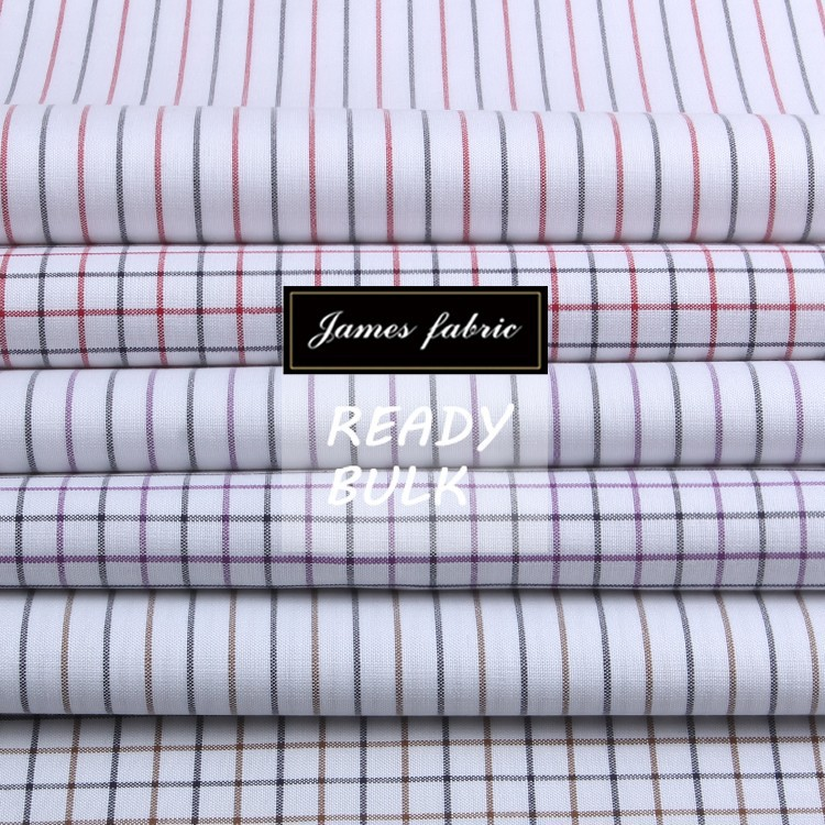 James pure cotton oxford classical stripe and check fabric