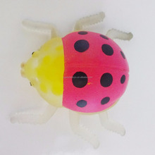 3170901-9 hot sale Pink ladybeetle TPR rubber beads ball, Bead gel stress squishy ball for fun
