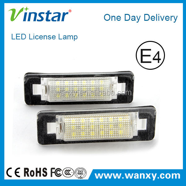 Led registration mark light w210 4d sedan w202 4d sedan facelif automotive led license plate lamp kits for Mercedes