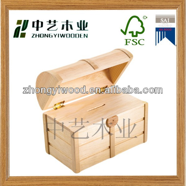 nature wooden money saving box