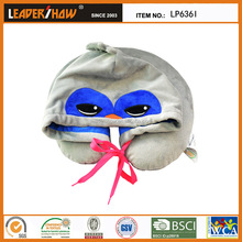 Children Age Group and Memory Foam Filling Animal Hoodie Travel Pillows (bird)