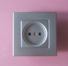 Flush mounted French 2P wall socket face plate,16A/250V