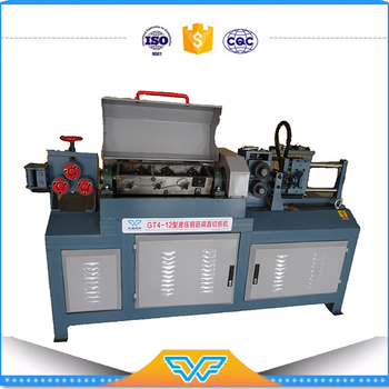 alibaba whoelsale chinese factory GT4-12 Hydraulic steel bar straightening machine