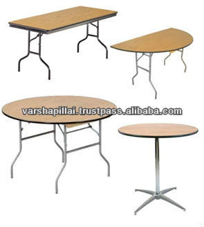 Round folding table / Plywood Banquet Folding Table