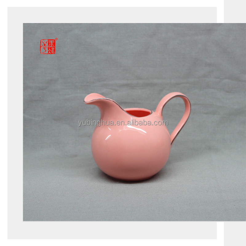 Arabic Orange Color Clay Ceramic Milk Jug