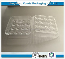 wholesale clear plastic blister mini food packaging round 16-pack cake box