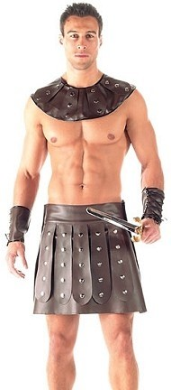 Adult party costume roman men gladiator costume