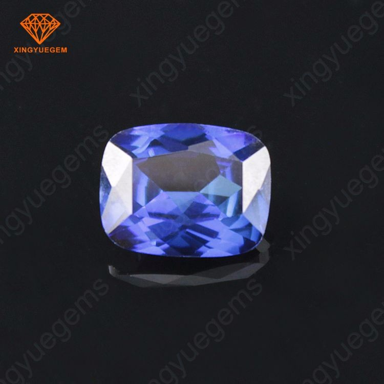 AAA quality Rectangle shape synthetic 34# sapphire