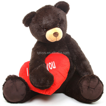 EN71 ASTM CPSC gaint big Black bear with love heart valentine gifts valentines day gifts teddy bear