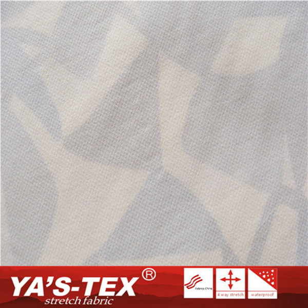 High Elastic/4-Way-Stretch Polyester Laminated Bonded TPU Printing Fabric For Sportswear
