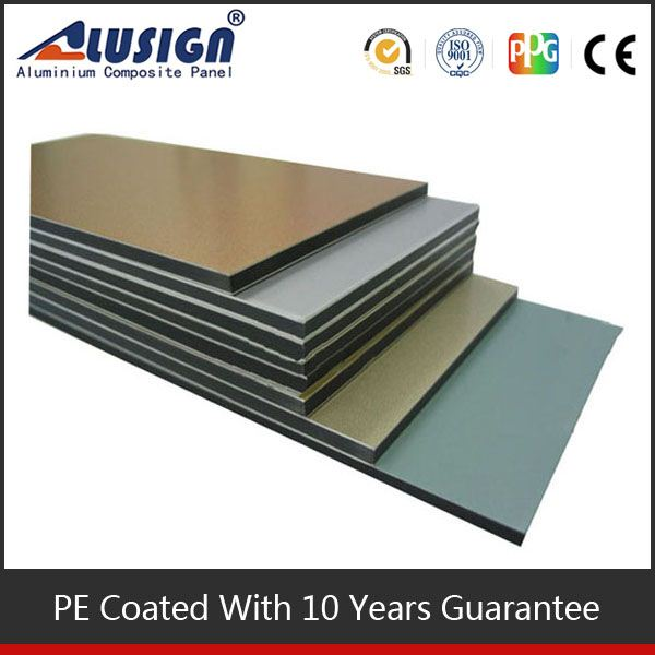 pe acm sheets outdoor sign board material metallic grey 2mm flame retardant board
