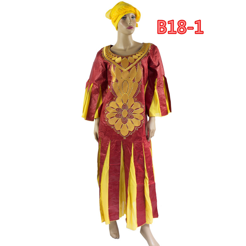 New coming EmbroideryAfrican bazin rich dresses for women