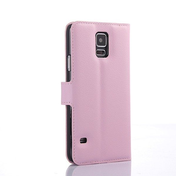 S5004 Hot Sale Luxury Cell Phone Flip Leather Stand Case for Samsung Galaxy S5 i9600