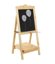 A-shape Chalkboard Easel with Slatted Storage Shelf